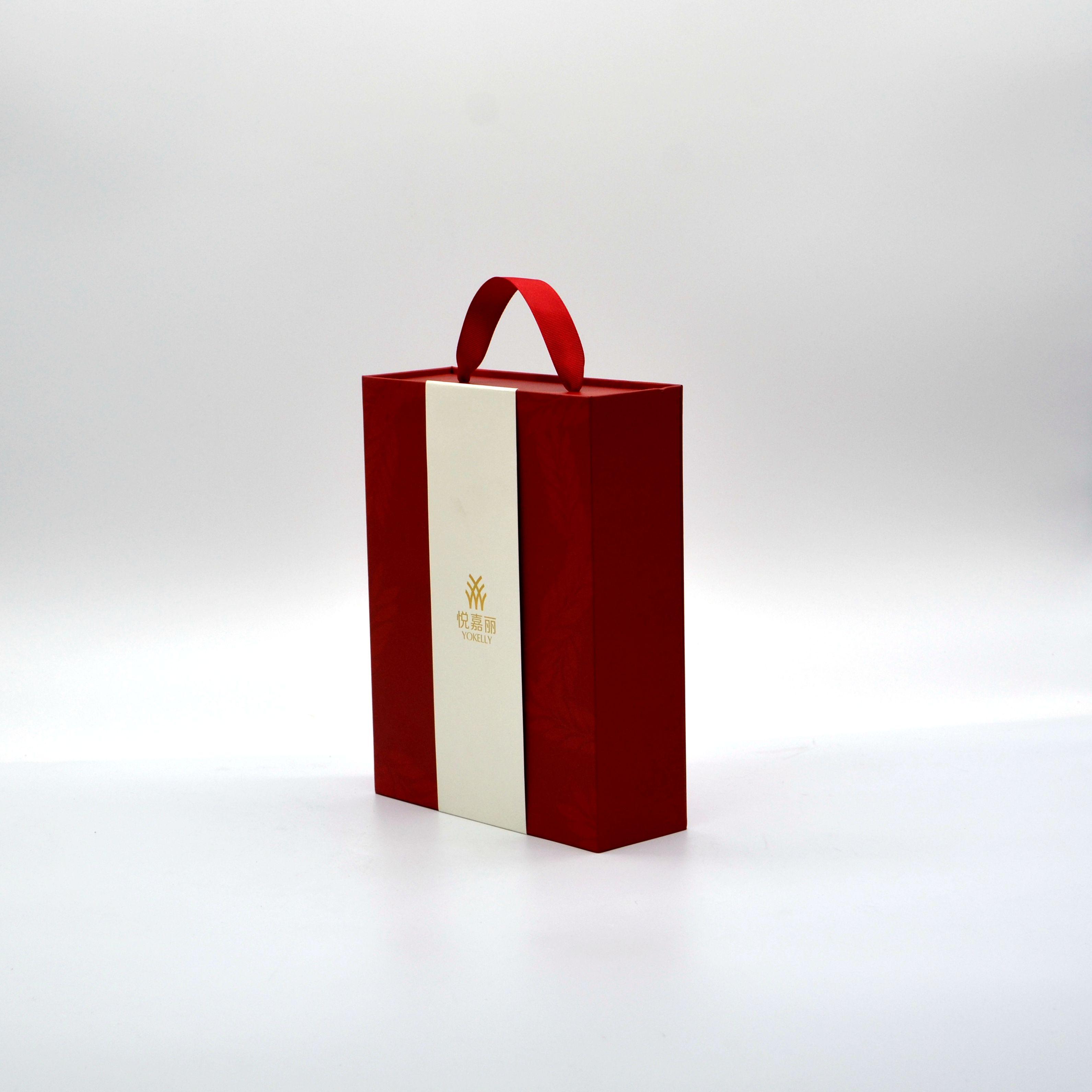 礼品盒包装印刷厂家定制红色礼盒