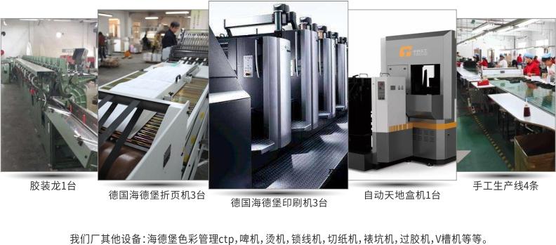 印刷包装厂车间出产的照片